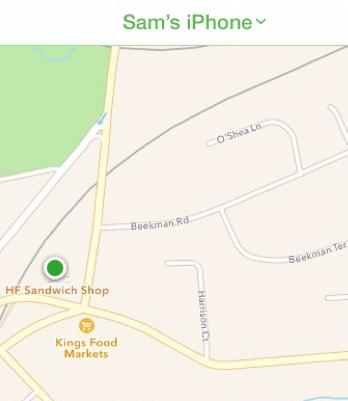iPhone located