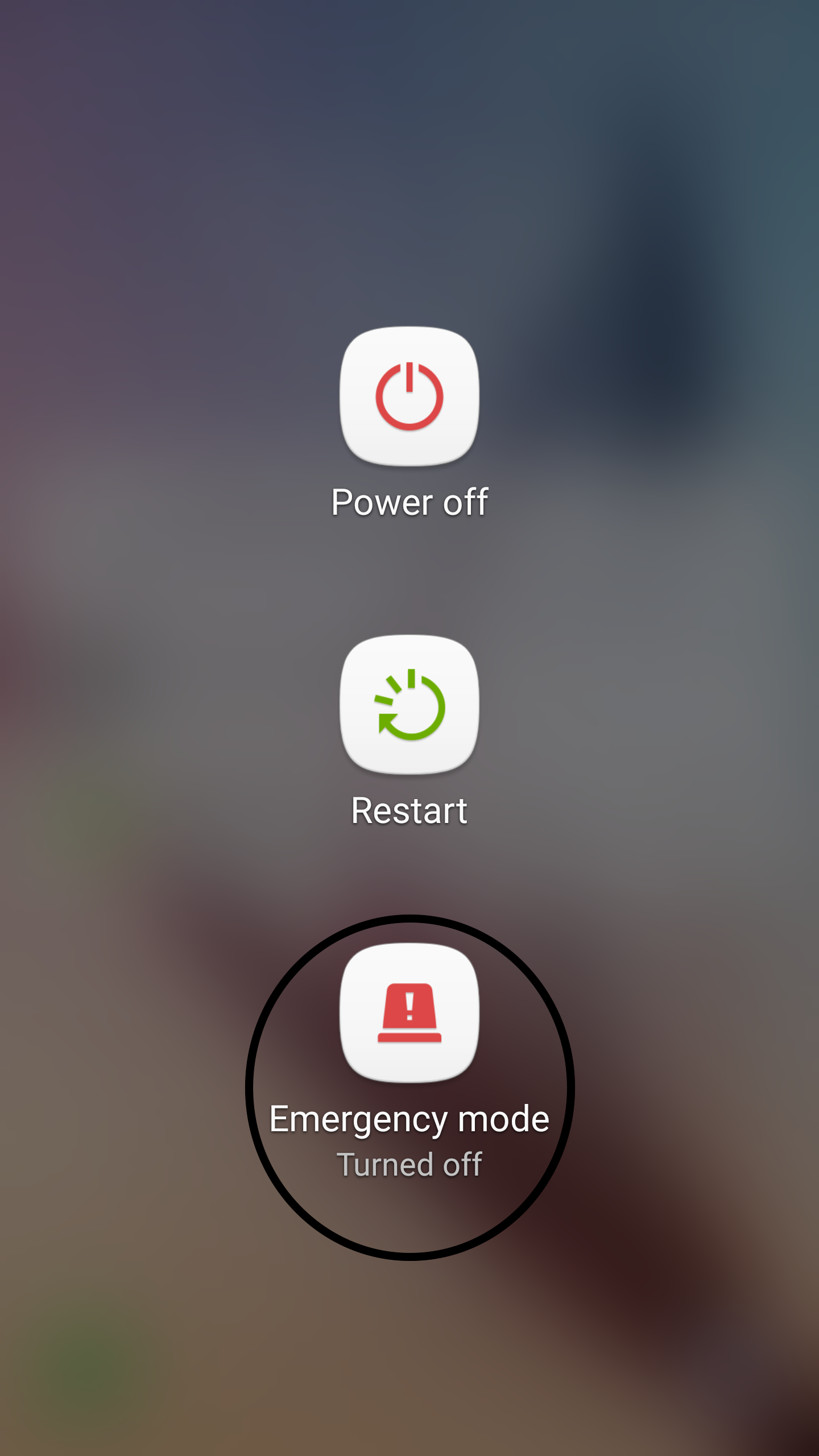 Android Emergency Mode