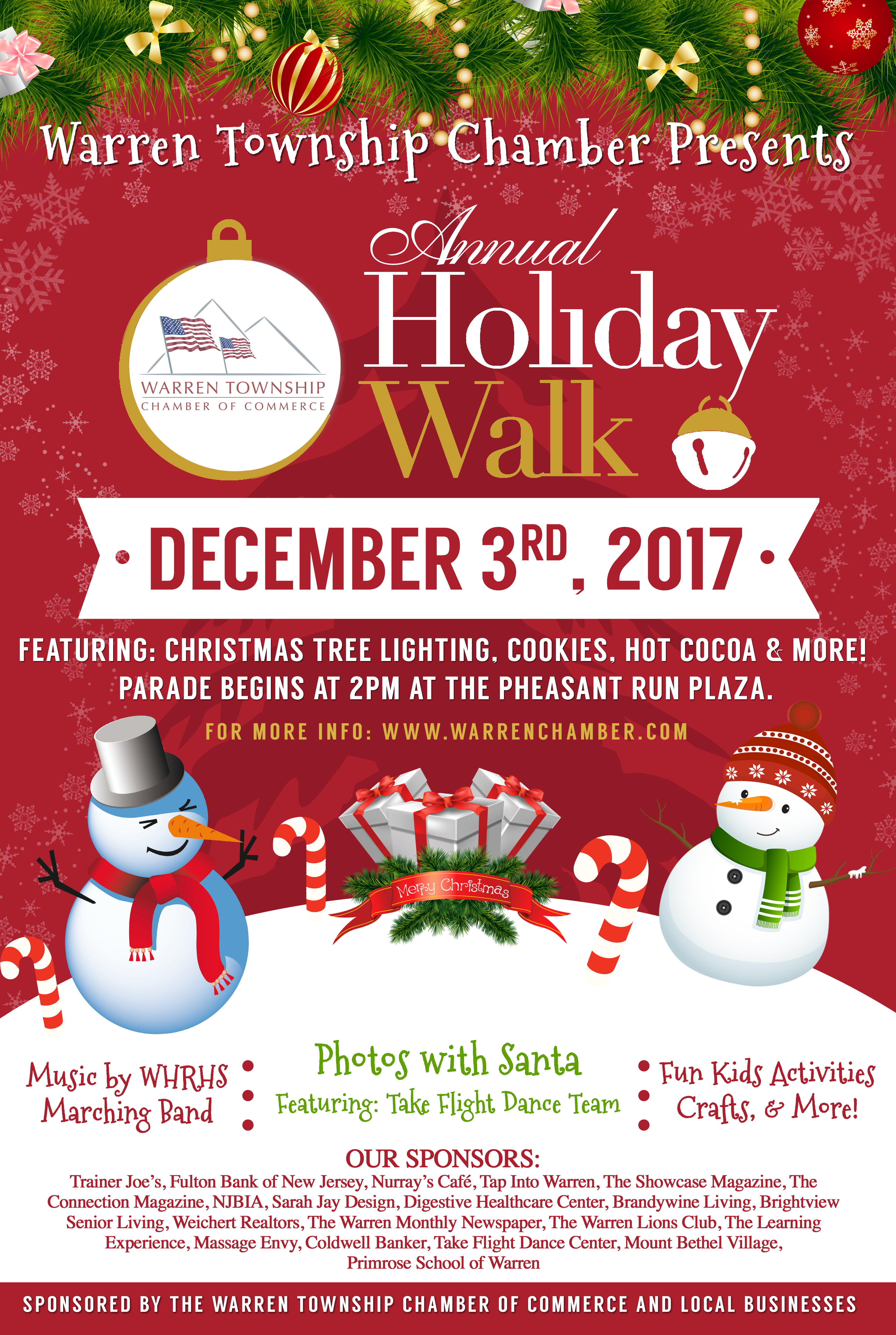 save the date warren holiday walk and tree lighting set for dec