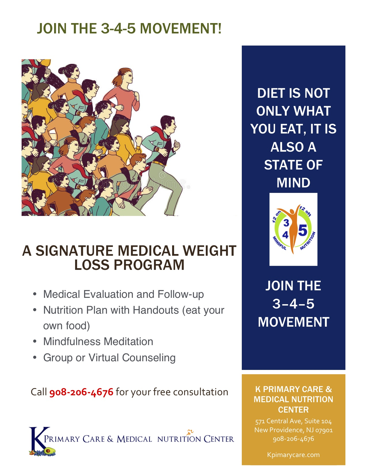 Join The 3 4 5 Movement Weight Loss Program Tapinto