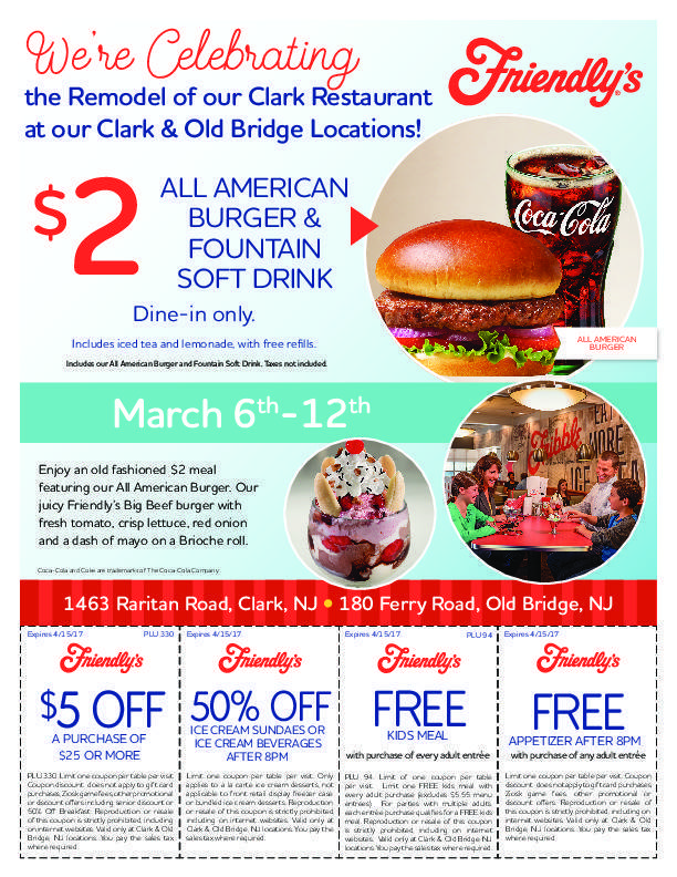 Friendlys in clark celebrates a new look and refreshed menu clark pdf forumfinder Images