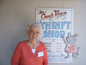 Ginnie Jones, who volunteers her time at the Church Mouse Thrift Store, volunteered her time helping at the Jersey Shore.