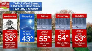 Fresh Gale Wind Gust Advisory Wednesday; West Essex Area Weather for Mar. 26, photo 1