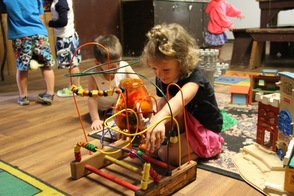 Play time in the pre-school cabin