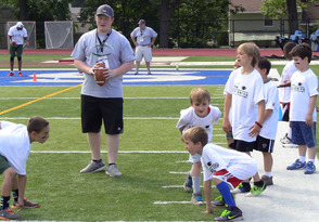 Area coaches helped run drills