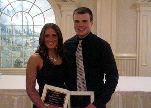 Veronica Zatko and Vin Banek at UCIAC Scholar Athlete Award Dinner
