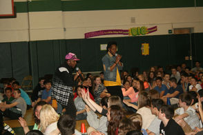 Tru Fam performs for Lazar students