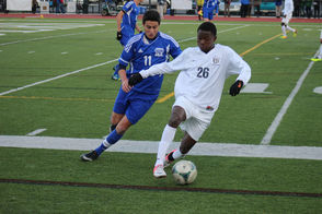 Montclair's Isaac Anbar controls the ball in the Millers side of the field.