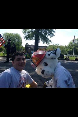 Sparky at the Parade