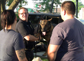 Brian Cheney and Ollie of the Scotch Plains PD K-9 Unit