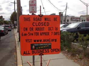 Morris Ave. Closure Sign