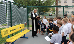 Buddy Bench Installed in Holy Trinity Interparochial School Westfield Campus, photo 2