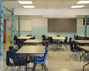 Cafeteria cleaned up and ready to serve