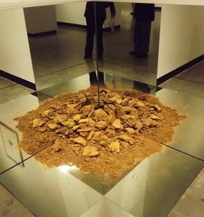 Red Sandstone Corner Piece, 1968