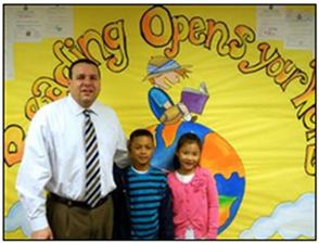 Dr. John B. Alfieri, Superintendent of Schools, Spends Time in the Schools