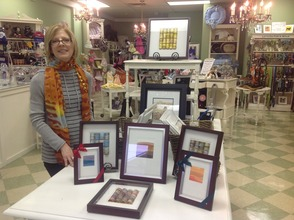 Lynn Krumholz with her display.