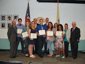 Essex County recipient at the N.J. State Board of Education