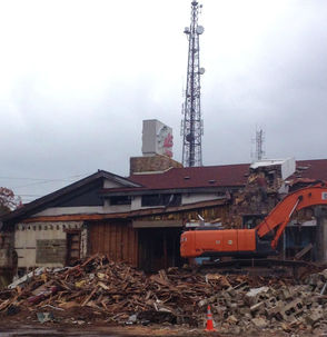 Pals Cabin Demolished