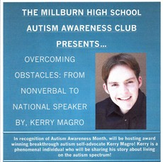 Millburn High School Autism Awareness Club Presents Speaker Kerry Magro