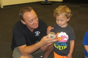 TBA Early School Camper Meets a Hedgehog