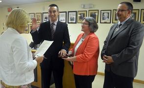 Newly sworn in Fanwood Police officer Daniel Kranz