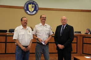 Fireman Receive Patriot Award from Town Council