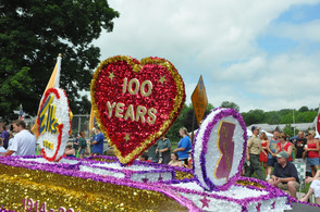Parsippany Elks elaborate float.