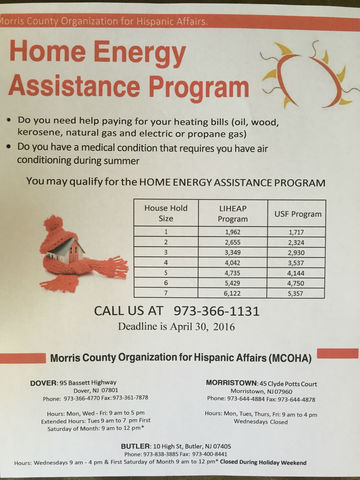 New Jersey assistance on electric, heating, utility bills