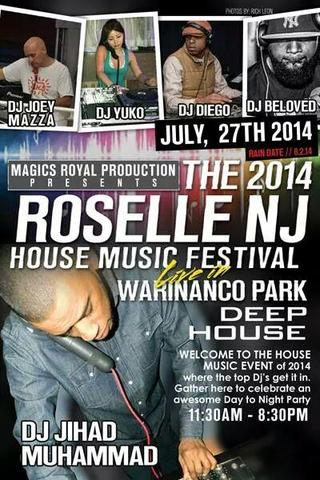 2014 roselle house music festival set for all day sunday for Jersey house music