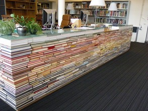 This is how one library repurposed its old books