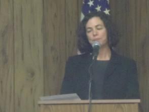 Andrea Brennan giving her presentation