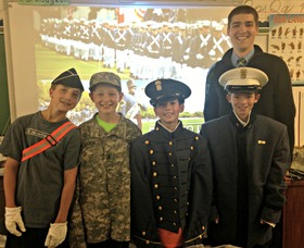 Mountain Park Students Spend Day with Citadel Cadet James McManus, photo 1