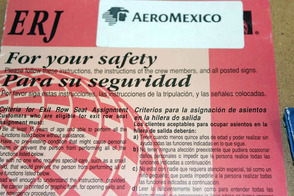 Handout materials to all students boarding the international flight