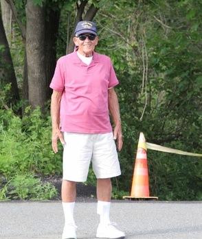 Marty Schweichart keeps the parking lot organized.