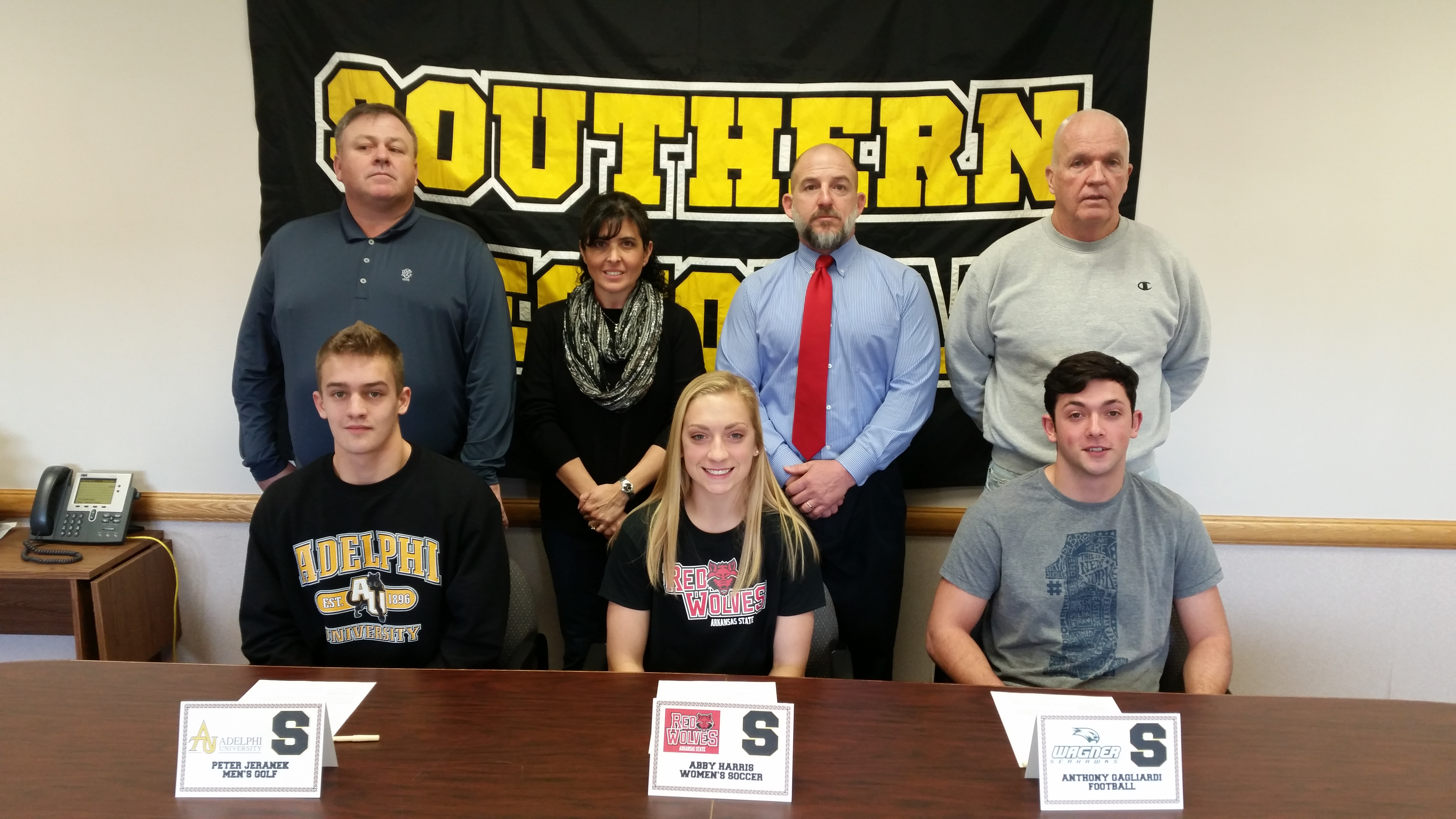 Three Seniors Sign National Letter of Intent StaffordLBI NJ – National Letter of Intent