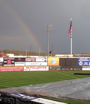 Rainbow over TD Bank Ballpark