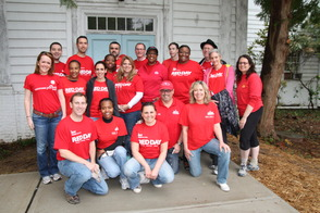 Keller Williams Midtown Direct Realty Team Volunteers to Paint Former Women's Club Building, photo 1