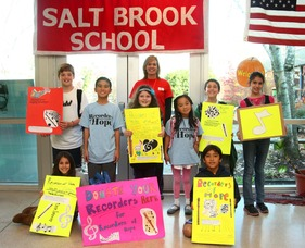 Salt Brook Students Support Recorders of Hope