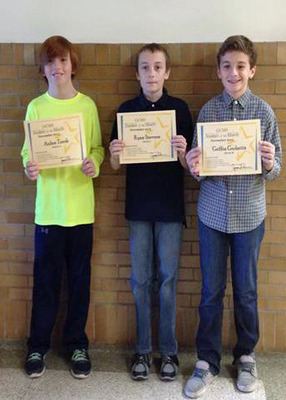 GCMS November Students of the Month