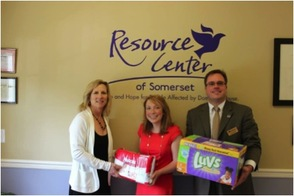 Pictured left to right: Veronica Finlay, Development Coordinator, Resource Center of Somerset, Stephanie D'Souza, Development Specialist Affinity Federal Credit Union Foundation and Jim Borelli, Member Experience Officer, Affinity Federal Credit Union