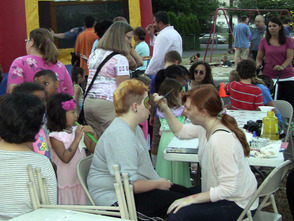 Face-painting at Fanwood's National Night Out Celebration