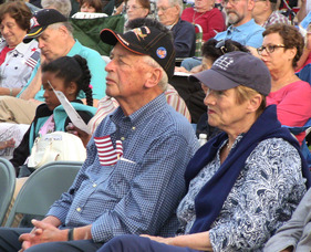 The large crowd at the Memorial Day Concert included many veterans