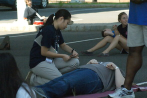 Students Learn EMS Procedures in Mass Casualty Drill, photo 6