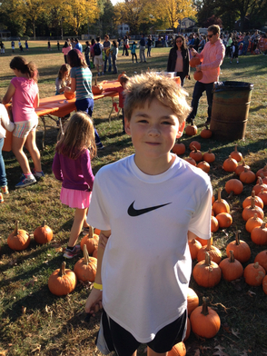 5th grader Mark Bisig enjoying the Fall Festival