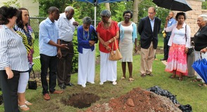 Roselle Community Joins Dr. Polk Family and Plants Time Capsule, photo 4