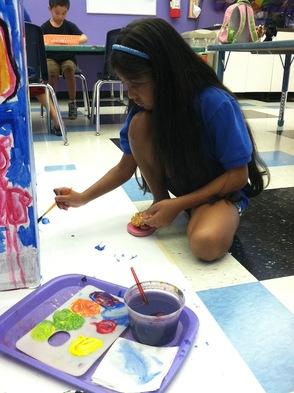 Students decorate donation box