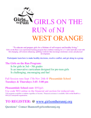 Girls on the Run Program to Begin at Pleasantdale School Sept.17, photo 1