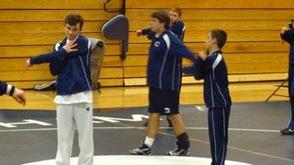 Seniors Dan Hyland, Dylan Mulcahy, Taylor Boehmer