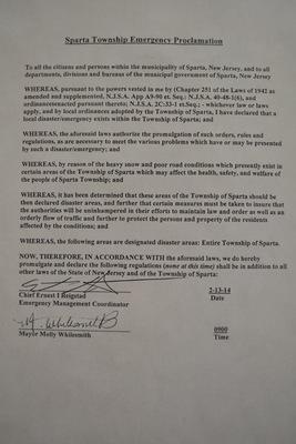 Declaration of State of Emergancy