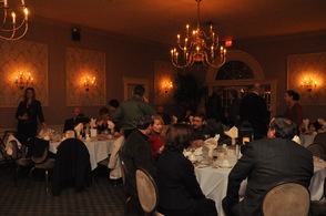 Guests mingle at the fundraiser.